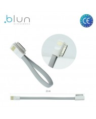 Blun Super Flat Silicone 20cm magnet clip Cable for iPhone 4 4S Grey (MA591 Analog)