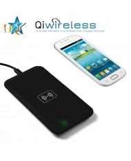 HQ Qi-1 Universal Inductive QI Wireless Charger Plate with USB Power Connection Black