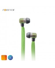 Forever Swing Sport & Fitness 3.5mm Flat Shoelace Cable In-Ear Earphones with Mic Green