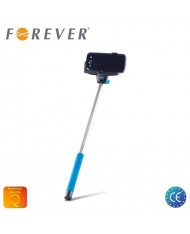 Forever MP-100 Bluetooth Selfie Stick 100cm - Universal Fix Monopod with buit-in Button Blue