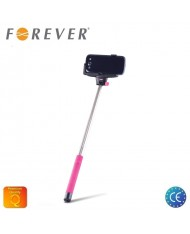 Forever MP-100 Bluetooth Selfie Stick 100cm - Universal Fix Monopod with buit-in Button Pink