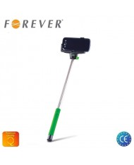 Forever MP-100 Bluetooth Selfie Stick 100cm - Universal Fix Monopod with buit-in Button Green