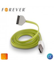 Forever Flat Silicone USB Data & Charging Cable iPhone 4 4S Green (MA591 Analog)