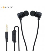 Forever CM-330 Universal 3.5mm In-Ear Flat 1.2m Cable Earphones with Mic/Answer Call + Carrying Case Black