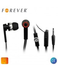 Forever Universal Flat Cable 3.5mm In-Ear Earphones for Phone with Microphone Black