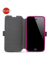 Telone Super Slim Shine Book Case with stand Alcatel C7 One Touch 7041D Pink