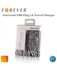 Forever Zebra 1A USB Plug Universal Travel Charger
