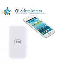 HQ Qi-1 Universal Inductive QI Wireless Charger Plate with USB Power Connection White