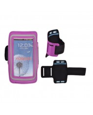 Telone Universal (13.7x7cm) Armband Pouch Case for Sport - Fitness Running Violet