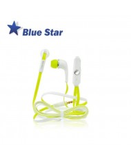 Blue Star IN60 Sport Comfort Stereo 3.5mm In-Ear Flat Cable Headset with mic/remote BlackYellow