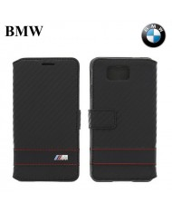 BMW BMFLBKGAMCC M-Sport Collection Book Flip Case Samsung G850 Galaxy Alpha Black Cabon